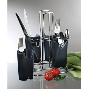 PRODYNE FC5B METALLA FLATWARE CADDY 4 REMOVABLE CO
