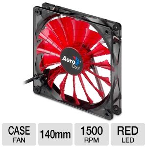 AeroCool 140mm Devil Red Edition LED Case Fan