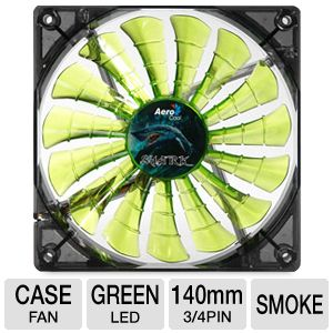 Aerocool Shark 140mm Green Edition Cooling Fan