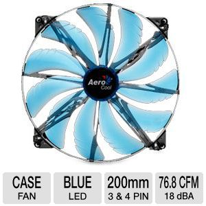 AeroCool SilentMaster 200mm Blue LED Fan