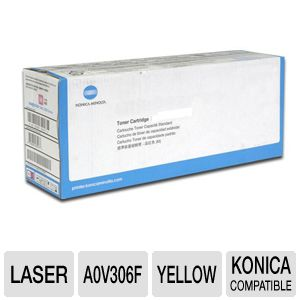 Konica A0V306F Yellow High Capacity Toner