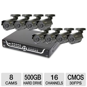 Q-See 16 Channel, 8 Camera, 500GB System