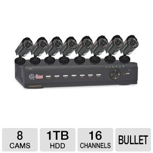 Q-See QT426-811-1R DVR & Cameras Security System