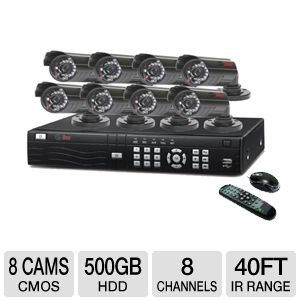 Q-See QS408-811-5 Network DVR Surveillance System