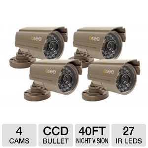 Q-SEE Color CCD Camera Kit 4 Pack