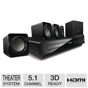 Philips 3D Blu-ray 5.1 Home Theater System