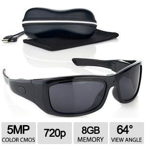 VidVision 720p HD Recording Sunglasses Camcorder