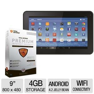 "Jazz C954 9"" Android 4.2 Jelly Bean 4GB Tab Bundle"
