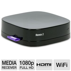 Roku 2 XD Remote Control Streaming Media Receiver