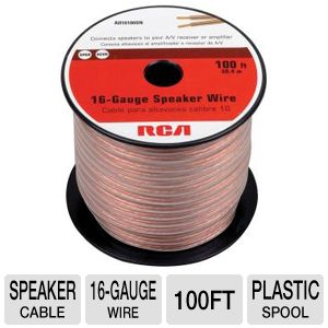 RCA AH16100SN 16-Gauge Speaker Wire (100 ft)
