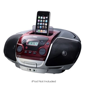 RCA RCD175i Portable CD Player with iPod Dock
