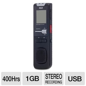 RCA VR5320R 1 GB Digital Voice Recorder