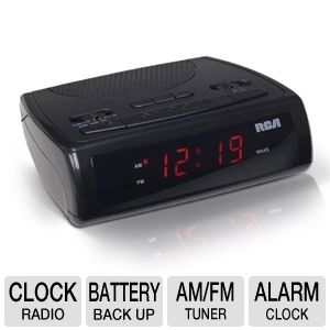 RCA RC100 AM/FM Clock Radio
