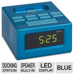 RCA RC130iBL Clock Radio Docking Station