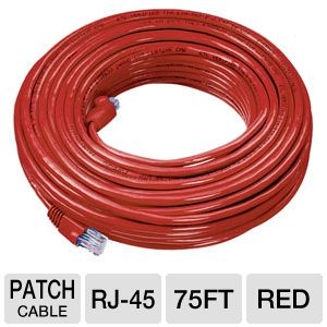 Raygo 75ft Cat5e 350MHz Snagless Patch Cable Red