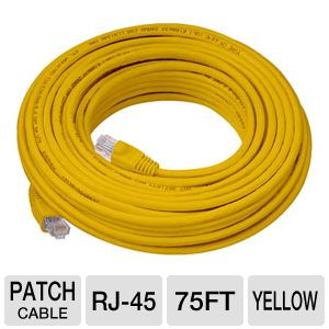 Raygo 75ft Cat5e 350MHz Snagless Patch Cbl Yellow