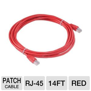 Raygo 14ft Cat6 550Mhz Snagless Patch Cable Red