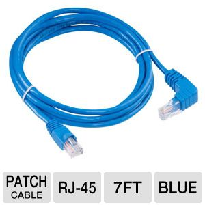 Raygo 7ft Cat6 90 Degree Snagless Patch Cbl Blue