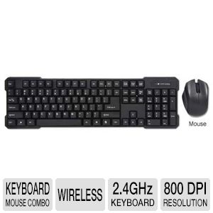 Raygo Wireless Keyboard and Optical Mouse