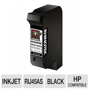 Rhinotek Compatible HP 51645A #45 Black Ink 1 Pack