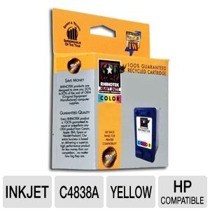 Rhinotek Compatible for HP 11 / C4838A Yellow Ink