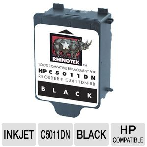 Rhinotek Compatible for HP 14 / C5011DN Black Ink
