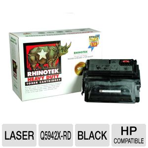 Rhinotek Compatible for HP 42X Q5942X Black Toner