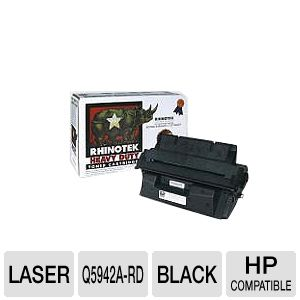 Rhinotek Compatible for HP 42a Q5942A Black Toner