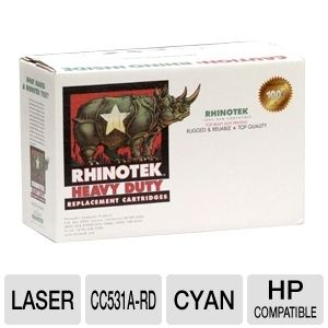 Rhinotek Compatible for HP CC531A Cyan Toner