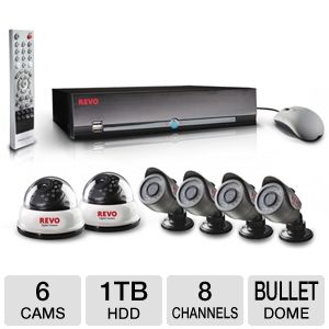 Revo 8-CH 1TB 6-Camera Security System