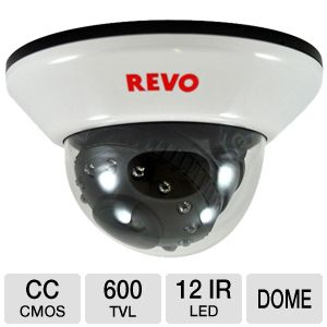 Revo Indoors 12IR LED Dome Security Camera