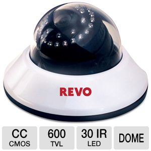 Revo Indoors 30IR LED Dome Security Camera