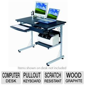SHARPER IMAGE Wood Computer Desk