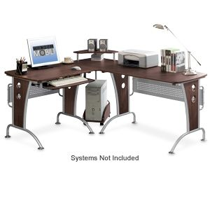 TECHNI MOBILI RTA-3806 L-Shape Wood Desk