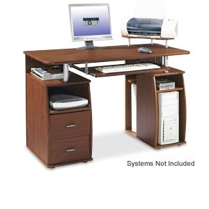 TECHNI MOBILI Wood Workstation with Storage 