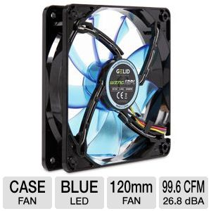 Gelid Gamer 120mm Fan in Blue w/ LED