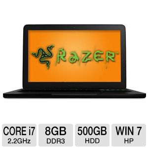 "Razer Blade 17.3"" Core i7 500GB+64GB SSD Notebook"