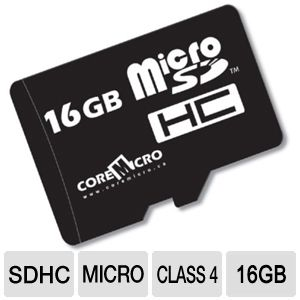 CoreMicro 16GB MicroSDHC Flash Card