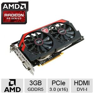MSI Radeon R9 280X GAMING 3G Video Card