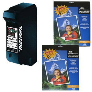 Rhinotek Compatible for HP# 15 C6615DN Black Ink