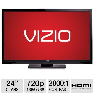 "Vizio E240AR 24"" 720p 60Hz LED HDTV Refurbished"