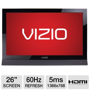 "Vizio E261VA 26"" 720p 60Hz Razor LED TV Refurb"