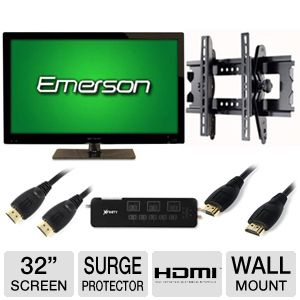 Emerson 32&quot; Class 720p 60Hz LED HDTV Bundle