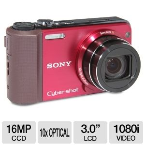 Sony HX7V Cyber-shot Red 16MP Digital Camer REFURB