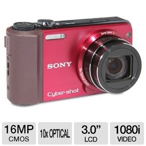 Sony HX7V Cyber-shot Red 16MP Digital Camera
