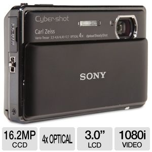 Sony TX100V Cyber-Shot Black 16.2 MP Camera REFURB