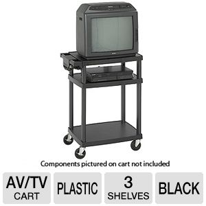 Safco 8933BL Adjustable Plastic AV/TV Cart