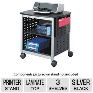 Safco 1856BL ScootT Desk-Side Printer Stand