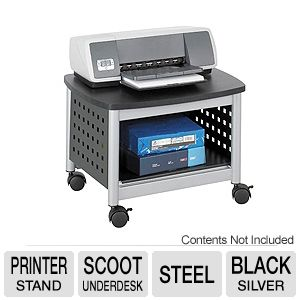 Safco 1855BL Scoot Underdesk Printer Stand