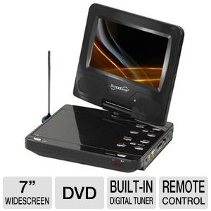 "SuperSonic SC-257 7"" Portable DVD Player"